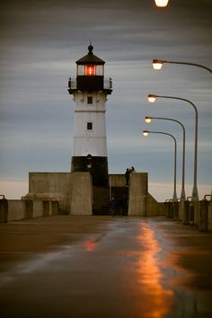 Light house on Canal Park in Duluth, Minnesota. Duluth Minnesota, Minnesota Home, What A Wonderful World, Beautiful World, Beautiful Places, The Places Youll Go, Places Ive Been, Places To Visit, Road Trip Destinations