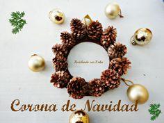 Corona de Navidad con piñas de pino | ReciclaconErika