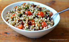 A light, refreshing vegetarian side dish using round pearl shaped Israeli couscous. This can be served cold or at room temperature making it a great potluck dish to share! Have you ever had Israeli couscous before? It is also called Pearl Couscous. It is a small, round pasta that is simmered in either water or broth for about 10 minutes …