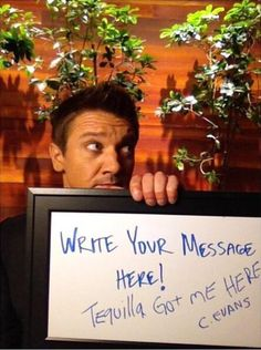 The adorable goofball Jeremy Renner