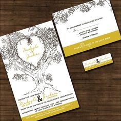 Personalized Oak Tree Wedding Invitation  by InvitingMoments, $1.00