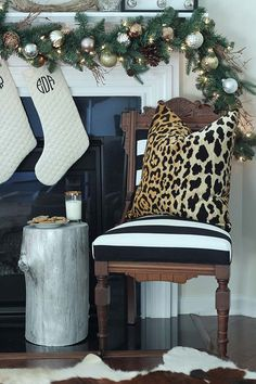 Trendspotting: Leopard print and black and white Christmas decor