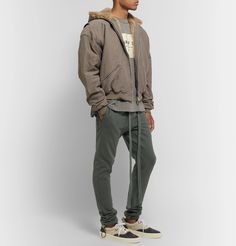 Fear Of God Faux Fur-lined Cotton-corduroy Hooded Jacket In Gray Hooded Jacket, Bomber Jacket, Thick Sweaters, Spring Jackets, Corduroy Jacket, Vintage Denim, S Models, Denim Shirt, Green And Grey