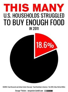 This many US households struggled to buy enough food in 2011 - 18.6%