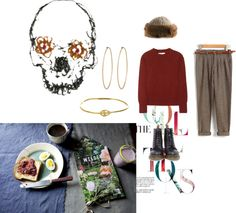 """lazy sunday"" by tomosaid ❤ liked on Polyvore"