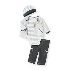 Little Me® Baby Boys' Grey 4-pc. Lion Take-Me-Home Set at www.bonton.com
