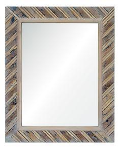 Ren Wil MT1582 Dilegno Rectangular Flat-Surface Framed Mirror Natural Wood Home Decor Mirrors Lighting