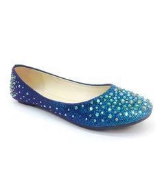 Blue Glitter Clore Flat #zulily #zulilyfinds