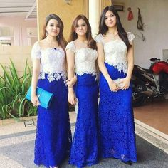 Ideas Dress Largos Diy For 2020 Kebaya Lace, Kebaya Dress, Dress Pesta, Fabulous Dresses, Trendy Dresses, Beautiful Dresses, Nice Dresses, Dress Brukat, Batik Dress