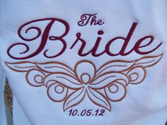 Personalized embroidered brides zip up hoodie wedding day coverup dressing room cover up honeymoon hoodie Bridal shower gift. $46.00, via Etsy.