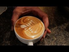 How to make Latte Art: The Basics in Slow Motion by Barista Dritan Alsela - YouTube