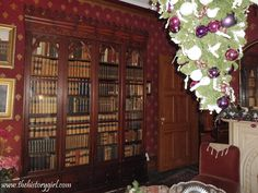 Bookcase purchased in 1840 by Dr. Schermerhorn. Acorn Hall in Morristown was built in 1853 by the Schermerhorn family and remodeled in the Italian Villa style by the Crane family in 1860. Most of the furnishings, wallpapers, and even some carpeting remain original to the family and the time period in the 19th century. It was donated to Morris County Historical Society by Mary Crane Hone in 1971. Discover more history @ www.thehistorygirl.com