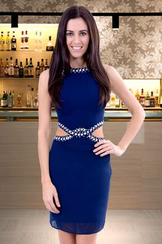 #NeedThatLook NYE outfit change. Need That Look - Blue Crystal Embellished Cut out Dress, (http://www.needthatlook.com/blue-crystal-embellished-cut-out-dress/)