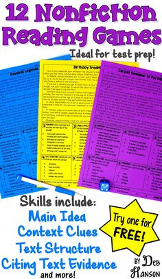 16 more Pins for your Reading board 6th Grade Ela, Reading Test, Third Grade Reading, Reading Games, Reading Intervention, Reading Lessons, Reading Workshop, Reading Skills, Teaching Reading