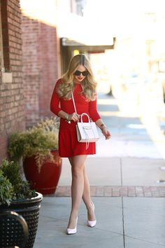 Red and Pink Valentine's Day Outfit - Cort In Session