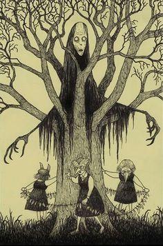 Creepy Drawings, Dark Art Drawings, Arte Horror, Horror Art, John Kenn, Horror Drawing, Tim Burton Art, Psychedelic Drawings, Dark Art Illustrations