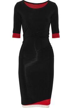 Donna Karan Layered stretch crepe-jersey dress NET-A-PORTER.COM - StyleSays