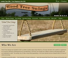Another great website created by Van Noppen Marketing, one NC's best full service marketing firms.  Wood Tree Swings' New Website.  pinned by #LightSourceCreative-nc