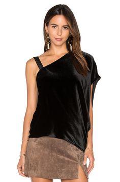 RAMY BROOK Mina Velvet Top in Black