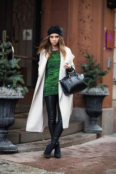 Green and leather