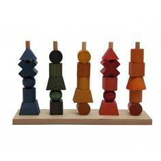 """Wooden Story - Steckspielzeug""""bunt"""""""