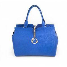 Bolso de piel Versace Collection azul www.sanci.es Lady Dior, Versace, Bags, Fashion, Blue Nails, Handbags, Moda, Fashion Styles, Taschen