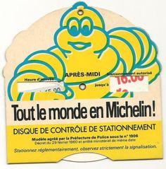 Disque De Contrôle De Stationnement Des Années 60 Michelin