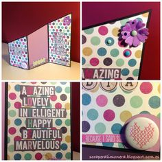 Tarjeta para el día de la madre. Mother's day card. #scrapbooking #scraperalimonera #DIY #cardmaking #postal #diadelamadre #mothersday