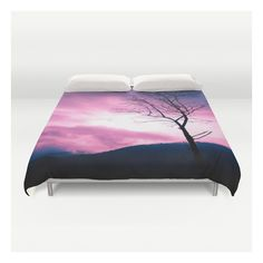 Into The Pink & Purple Sky - Justart © Duvet Cover ($129) ❤ liked on Polyvore featuring home, bed & bath, bedding, duvet covers, microfiber bedding, king duvet insert, pink king size bedding, lightweight duvet i lightweight duvet insert