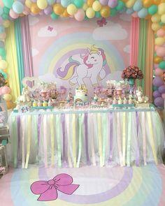 Inspiração fofa para #festaunicornio By @requinte_fest #festejandoemcasa #unicorniofestejandoemcasa #FestaUnicornio