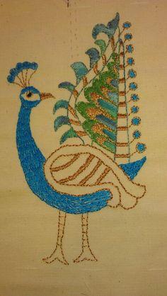 Kantha peacock