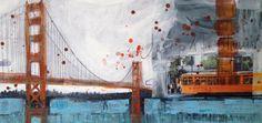 Golden Gate bridge, San Francisco 50x100 mixed media on canvas