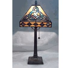 """Trinity Lamp Tiffany Style 18"""" high."""