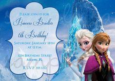 etsy frozen birthday invitation - Google Search