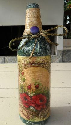 Decoupage Bottles by Carlos Rossi                                                                                                                                                                                 Mais