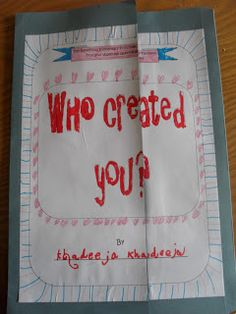 Diary of a Muslim homeschool: Lapbook - Who Created You?