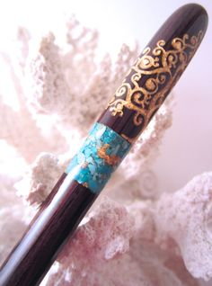The Petite Chloe Tree of Life Hair Stick by TimberstoneTurnings