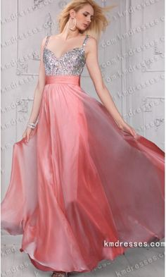 gorgeous sparkling rhinestoned top spaghetti straps flowing chiffon gown.prom dresses,formal dresses,ball gown,homecoming dresses,party dress,evening dresses,sequin dresses,cocktail dresses,graduation dresses,formal gowns,prom gown,evening gown.
