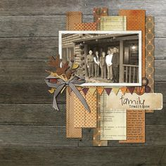 Inspiration: Love The Colors Used With This Sepia Photo And The Paper Strips In Various Heights And Minimal Elements Is Lovely