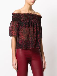 1a26bc6816168b Leopard Print Bardot Blouse (Posts by Denisee Denisee)