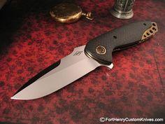 Peter Carey Knives | Peter Carey - Custom Nitro Flipper - Fort Henry Custom KnivesFort ...