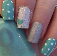 46 Awesome Wedding Aqua Nail Art
