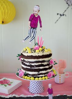 so much love in this sweet and whimsical perfectly non-perfect cake by The Alison Show