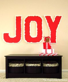 Giant Christmasy Wall Letters - The Experimental Home - Sugar Bee Crafts
