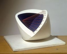 Barbara Hepworth  Sculpture with Colour (Deep Blue and Red) [6]  Painted wood and strings, 1943
