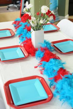 36 Trendy Baby Shower Centerpieces For Twins Dr Suess Dr Seuss Birthday Party, Baby 1st Birthday, Birthday Parties, Birthday Ideas, Princess Birthday, 2nd Baby Showers, Baby Shower Themes, Baby Boy Shower, Dr Seuss Baby Shower Ideas