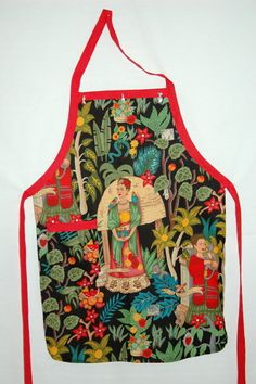 FRIDA KAHLO Apron by outofourmind on Etsy, $26.00 For the artist in the kitchen - www.outofourmind.etsy.com.