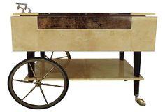 Aldo Tura Parchment Serving Cart on OneKingsLane.com
