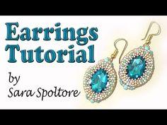 BeadsFriends: earring tutorial - Oval crystal bezel - DIY earrings - YouTube