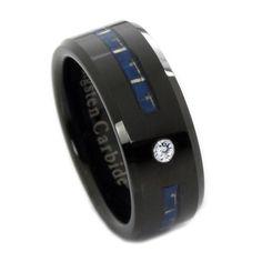 Thin blue line tungsten ring, law enforcement jewelry, police wife jewelry, thin blue line jewelry, police products, thin blue line products, LEO products